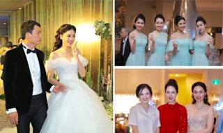 Á hậu Thanh Tú tình tứ bên chồng doanh nhân 40 tuổi trong hôn lễ được thắt chặt an ninh
