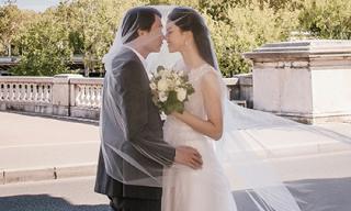 Ảnh cưới như cổ tích của Á hậu Thanh Tú và chồng đại gia tại Paris