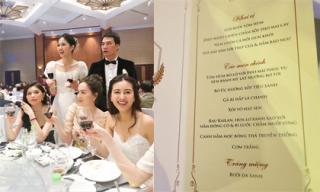 Thực đơn trong đám cưới của Á hậu Thanh Tú và chồng doanh nhân có gì đặc biệt?