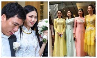 Dàn Hoa hậu, Á hậu đình đám cùng xế hộp siêu 'khủng' tiễn Thanh Tú lên xe hoa ngày rước dâu