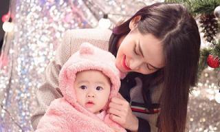 Tú Vi - Văn Anh lần đầu khoe gương mặt chính diện của con gái 8 tháng tuổi