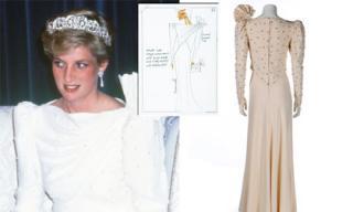 Đầm David Emanuel của cố Công nương Diana được bán đấu giá 3 tỷ đồng