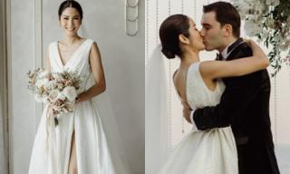 Hoa hậu Hoàn vũ Thái Lan diện váy cưới của Đỗ Mạnh Cường, khóa môi chồng Tây ngọt ngào trong ngày cưới
