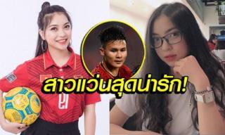 Nhờ hiệu ứng từ người yêu, bạn gái Quang Hải bất ngờ xuất hiện trên báo Thái
