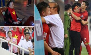 Loạt ảnh cổ động viên và thầy trò HLV Park Hang Seo đang gây sốt cộng đồng mạng sau chiến thắng trước Philippines