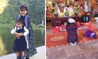 Xúc động với lời cầu xin trước cửa Phật của con gái Mai Phương dành cho mẹ