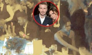 Nắm tay tình tứ trên thảm đỏ là vậy nhưng David và Victoria lại lạnh nhạt, ngồi quay lưng với nhau như thế này