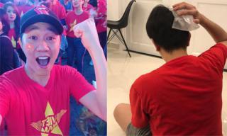 Diễn viên hài Anh Đức bị chấn thương sau khi đi 'bão' ăn mừng bóng đá Việt Nam vô địch AFF Cup