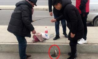 Người dân rủ nhau ra mặt đường để… câu cá