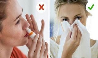 Xì mũi tưởng dễ mà khó không tưởng, nếu làm không đúng cách có thể gây viêm xoang, điếc tai