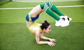 Mê mần trước mỹ nhân thể thao Trung Quốc dẻo như 'cao su'