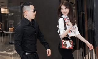 Ngọc Trinh thử đồ hiệu cùng Khắc Tiệp chuẩn bị cho Milan Fashion Week 2019