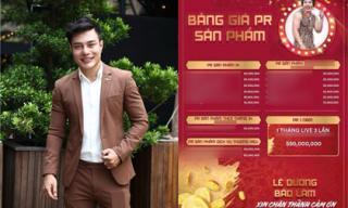 Hé lộ bảng giá cát-xê PR sản phẩm của Lê Dương Bảo Lâm lên đến hơn nửa tỉ đồng?