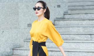 'Gái 2 con' Tăng Thanh Hà tiếp tục khoe dáng mượt mà trong loạt ảnh thời trang