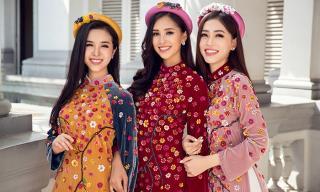 Top 3 Hoa hậu Việt Nam hoá nàng xuân rạng rỡ trong bộ ảnh Tết
