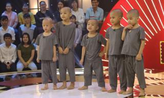 5 chú tiểu Bồng Lai tiếp tục 'thách thức' Trấn Thành - Trường Giang, giật 100 triệu
