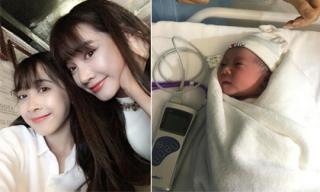 Em gái Nhã Phương hạ sinh con trai đầu lòng sau 5 tháng kết hôn