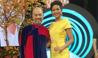 NTK Đức Hùng diện áo dài, nhí nhảnh bên Hoa hậu H'hen Niê tại trường quay