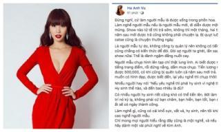 Hà Anh 'bóc trần' những đắng cay của nghề người mẫu khiến ai cũng xúc động