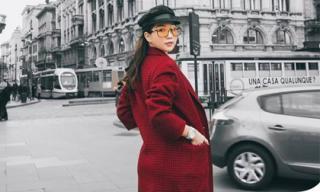 Hàng hiệu từ đầu đến chân, Ngọc Trinh tự tin thả dáng trên đường phố kinh đô thời trang Milan