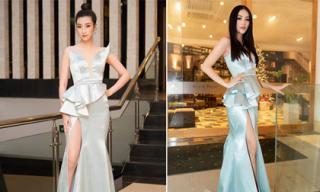 Trong lần hiếm hoi hai nàng Hậu Đỗ Mỹ Linh và Phương Khánh đụng hàng: Ai mặc đẹp hơn?