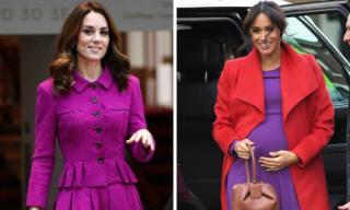 Những tưởng Công nương Kate học đòi em dâu Meghan mặc đồ tím hóa ra sự thật lại là thế này