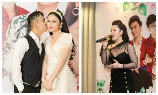 Khánh Đơn hôn vợ hot girl cực tình tứ, Nhật Kim Anh 'tắt tiếng' vẫn gắng hát dân ca