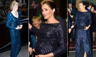Công nương Meghan Markle khôn ngoan khi chọn đầm sequin hàng trăm triệu lấy cảm hứng từ mẹ chồng quá cố Diana