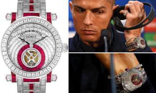 Ronaldo vượt mặt Messi và lọat sao thế giới khi 'đốt tiền' vào thú chơi đồng hồ