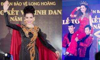 Hoa hậu Bùi Thị Hà diện áo dài dát vàng, hóa thân thành công chúa trên sân khấu trong vai trò ca sĩ