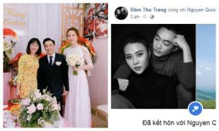 Vừa xong lễ ăn hỏi, Đàm Thu Trang liên tục khẳng định quyền làm vợ với Cường Đô La và bị phát hiện lộ vòng 2 nhô cao