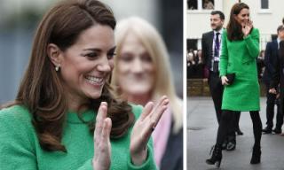 Công nương Kate Middleton xuất hiện với đôi giày gần chục triệu đồng giữa nghi vấn khiến vợ chồng em dâu trục trặc