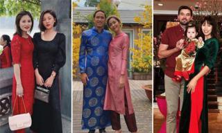 Mỹ nhân Việt xúng xính diện áo dài vào dịp Tết nguyên đán 2019