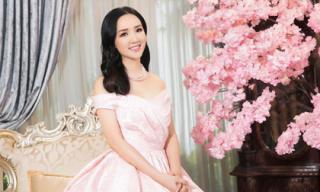 Ở tuổi 46, Giáng My vẫn tự tin diện đầm hồng xinh như gái đôi mươi