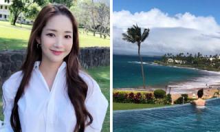 'Thư ký Kim' Park Min Young khoe ảnh đẹp lung linh khi tận hưởng kỳ nghỉ Tết ở Hawaii