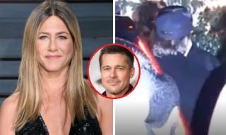 Brad Pitt lại bị bắt gặp đến dự sinh nhật vợ cũ Jennifer Aniston giữa tin đồn hẹn hò Charlize Theron