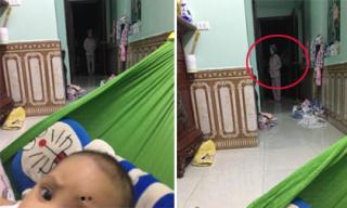 Đang ru con ngủ, người chồng 'hú hồn' trước sự xuất hiện này của vợ