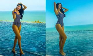 Á hậu Thúy Vân đẹp 'mướt mắt' khi diện đồ bơi trong chuyến du lịch Thái Lan