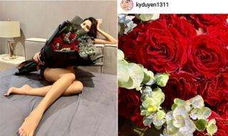 Minh Triệu và Kỳ Duyên cùng đăng ảnh quà Valentine, dân mạng phát hiện ra điểm trùng hợp bất ngờ