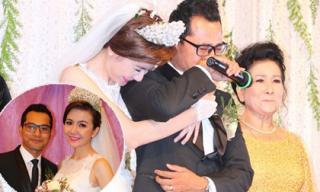Huỳnh Đông bật khóc trong lễ cưới khi nói về cha