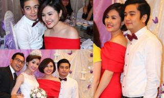 Vân Trang cùng bạn trai mới tình tứ dự cưới Huỳnh Đông
