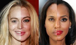 Khuôn mặt 'vịt bầu - thiên nga' của sao trước và sau trang điểm