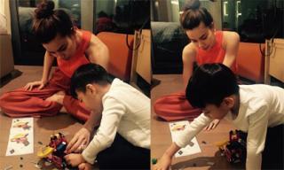 Hồ Ngọc Hà 'đấu trí Lego' với con trai Subeo