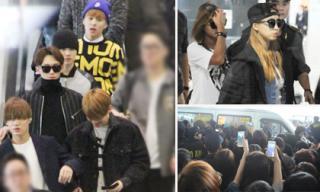 EXO, Sistar khiến fans Việt nháo nhào khi đến Nội Bài