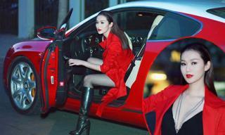 Khánh My ăn diện gợi cảm, lái siêu xe 12 tỷ đi xem phim