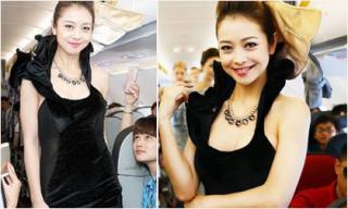 Jennifer Phạm trình diễn thời trang trên máy bay
