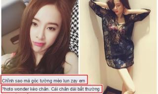 Angela Phương Trinh diện đồ táo bạo, lộ chân tong teo bất thường