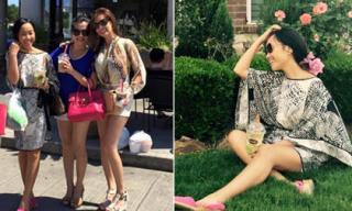 Đoan Trang xinh tươi đi chơi với bạn bè tại Mỹ