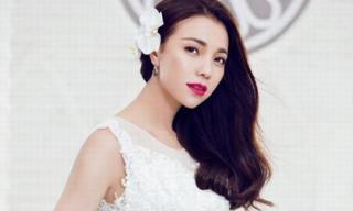 Trà Ngọc Hằng đẹp đến nao lòng trong trang phục váy cưới