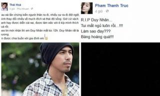 Sao Việt đồng loạt khóc thương Duy Nhân
